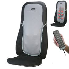 si e de homedics homedics sbm750 shiatsu percussion cushion w heat chair back