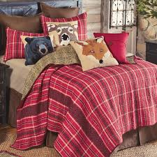 Twin Plaid Comforter Red Mountain Lodge Plaid Quilt Full Queen