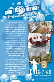 société de nettoyage de bureaux flyer societe de nettoyage sonet services logo d rik graphiste