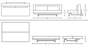 dwr sleeper sofa sliding sleeper sofa rosso modern dwr design within reach ebay