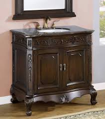 Bathroom Furniture Wood Bathroom Antique Brown Bathroom Vanities Without Tops With Single