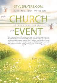 church event psd flyer template 10705 styleflyers
