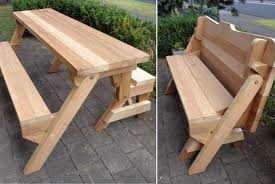 folding bench and picnic table combo free plans militariart com