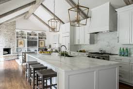kitchen with vaulted ceilings ideas remodeled white kitchen with vaulted ceiling beams home bunch