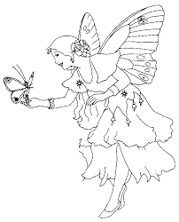 fairies coloring pages mythical creatures fairy