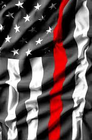 Black And White Us Flag Thin Red Line Usa Flag Clean Wave Refrigerator Wrap U2014 Rm Wraps