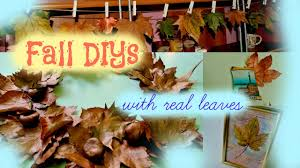 fall room decor diy with real leaves fall wreath hanging