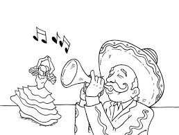 mexican coloring pages fiesta celebrating cinco mayo and mexican coloring page bebo pandco
