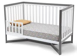 Cribs That Convert To Beds by Tribeca 4 In 1 Crib White Grey Baby Safety Zone Powered By Jpma