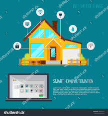 smart home automation system smart house stock vector 489002512