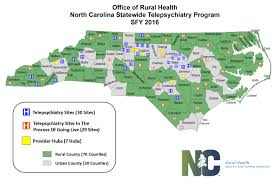 Map Program Statewide Telepsychiatry Program Nc Department Of Health And