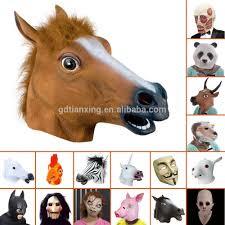 wholesale full over head latex halloween maks horse mask magical