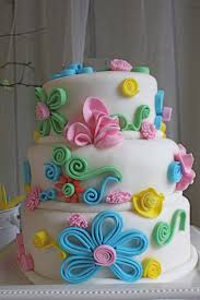 How To Decorate Cake At Home Best 25 Fondant Flower Cake Ideas On Pinterest Pretty Birthday
