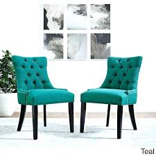 teal blue dining room chairs table set ireland chair cushions pads