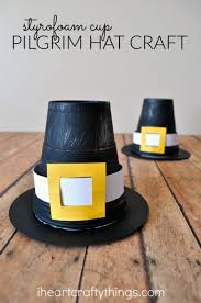 styrofoam cup pilgrim hat kid craft i crafty things