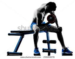 Dumbbell Exercises On Bench Weight Bench Stock Images Royalty Free Images U0026 Vectors