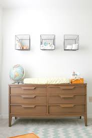 Basket Changing Table Dresser Changing Table Baskets Above For Masculine Storage