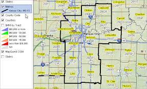 kansas city metro map kansas city mo ks msa situation outlook report