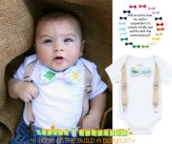 easter baby boy with suspenders and argyle bow tie
