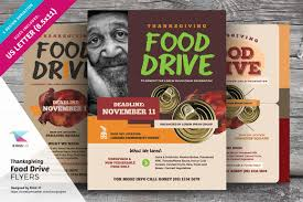 thanksgiving food drive flyers flyer templates creative market
