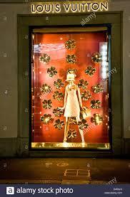 womens designer luxury fashion illuminated window display louis