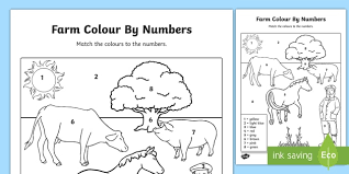 colour numbers colouring colouring activities count