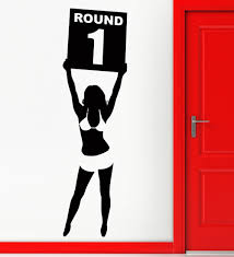 popular wall stickers martial arts buy cheap wall stickers martial wall sticker vinyl decal ring girl round one boxing martial arts decor china mainland