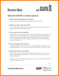 resume exles for college internships chicago sle objectives for resumes 8 general resume exles objective