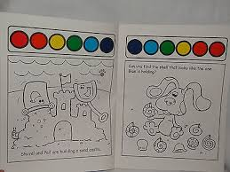 blues clues coloring book paint water