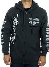 ford mustang jacket ford mustang charcoal gray hoodie zip sweatshirt jacket
