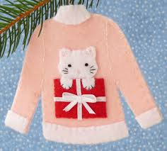icon ugly cat christmas sweater ornament pink jpg catster