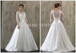 modest wedding dresses with 3 4 sleeves modern style cheap modest wedding dresses with modest