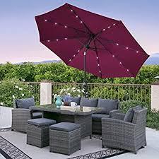 Led Outdoor Furniture - amazon com giantex 10ft patio solar umbrella led patio market