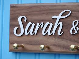 personalized housewarming gifts personalized key ring holder walnut hardwood mother u0027s day