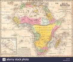 Maps Of Africa by Map Of Africa Circa 1850 Stock Photo Royalty Free Image