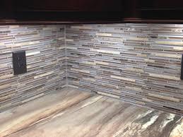 thin tile and glass mosaic bar backsplash design by dennis