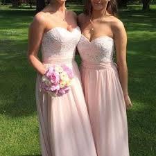 blush junior bridesmaid dresses blush pink sweetheart lace top chiffon junior bridesmaid