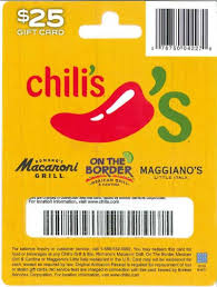 chili gift card chili s gift card 25 gift cards