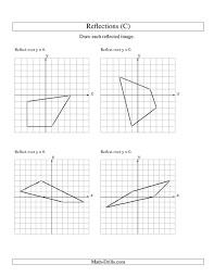 reflections worksheet geometry worksheets