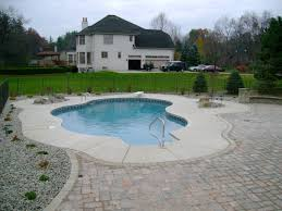 Backyard Landscaping Ideas With Pool by Outdoor Inspiration Striking Square Cement Front Yard Pavers As