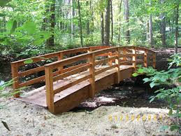cedar landscape timbers garden bridges 4 52ft long elegant wooden landscape garden bridge
