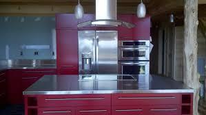 purple modern kitchen small kitchen design with island large refrigerator white tiled