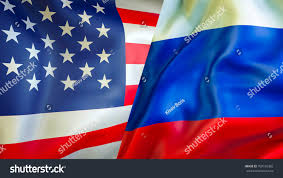Colors Of Russian Flag Usa Russia Flags 3d Waving Flag Stock Illustration 708156385