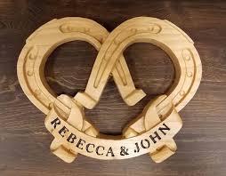 personalized horseshoes personalized horseshoe wedding sign horseshoe decor