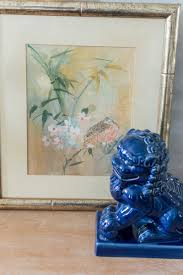 blue foo dogs entryway refresh blue foo dogs the home i create