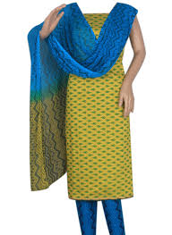 orange and blue combination buy lemon yellow and blue combination cotton silk salwar suit