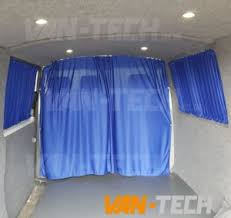 Van Window Curtains Vw Transporter T5 Van With Interior Curtains Fitted By Van Tech