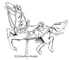 carousel horse by wolf guardian lineart carousel animals