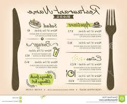 top restaurant placemat menu vector design layout template