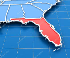 Florida Usa Map by 3d Render Of Usa Map With Florida State Highlighted U2014 Stock Photo